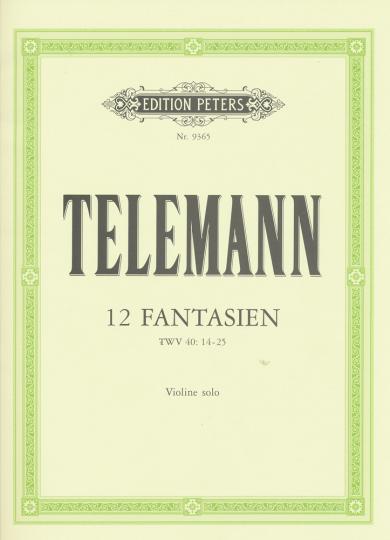 Telemann, 12 Fantasien, TWV 40: 14-25