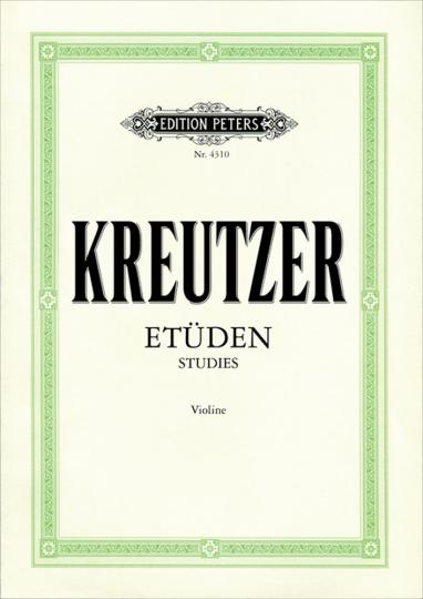Kreutzer etudes, Viool