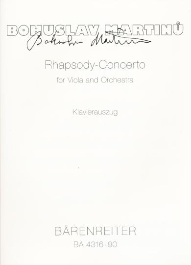Martinu, Rhapsody-Konzert
