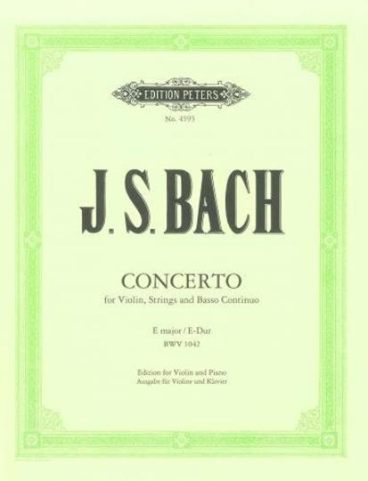 J.S. Bach Concerto E major / E-Dur, BWV 1042