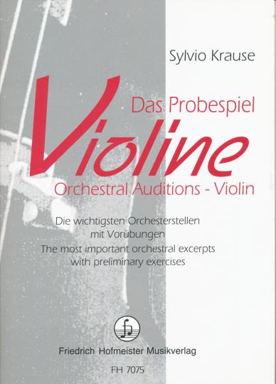 Krause, Das Probespiel Violine