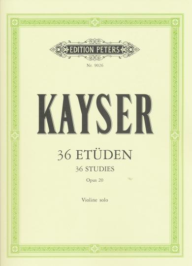 Kayser, 36 Etüden, Opus 20, Violine solo