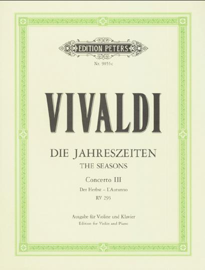 Vivaldi,  Konzert Die Jahreszeiten - Der Herbst