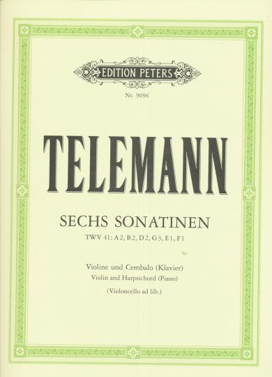 Telemann, Sechs Sonatinen, TWV41: A2, B2, D2, G3, E1, F1