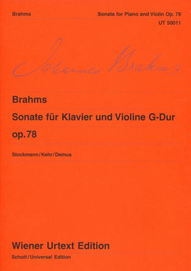 Brahms, Sonate voor piano en viool G-Dur op. 78
