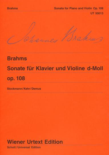 Brahms, Sonate voor piano en viool d-Moll, op. 108