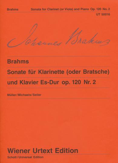 Brahms, Sonate voor altviool en piano Es-Dur op. 120, Nr. 2