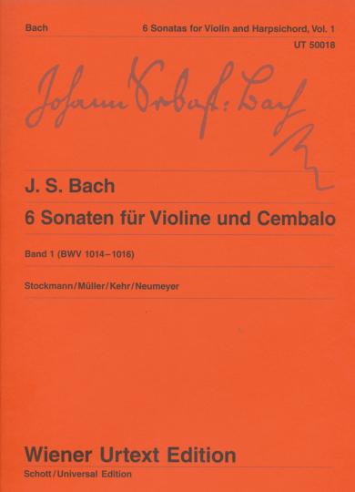 Bach, 6 Sonaten voor viool en Cembalo, Band 1 (BWV 1014-1016)