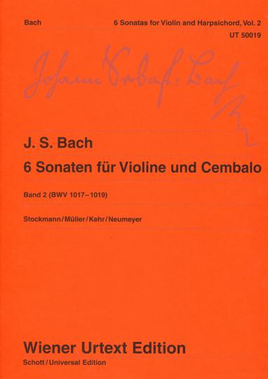 Bach, 6 Sonaten voor viool en Cembalo, Band 2 (BWV 1017-1019)