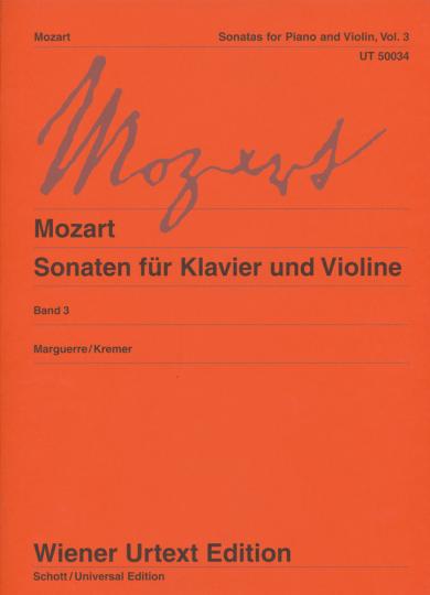 Mozart, Sonaten voor piano en viool , Band 3