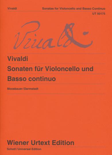 Antonio Vivaldi - verzameling Sonates voor Violoncello en Basso continuo