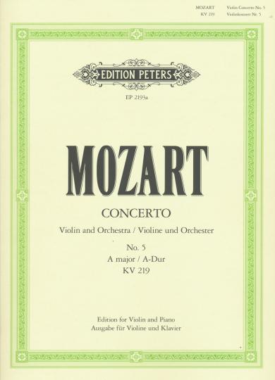 Mozart, Violin-Konzert No. 5, A-Dur, KV 219