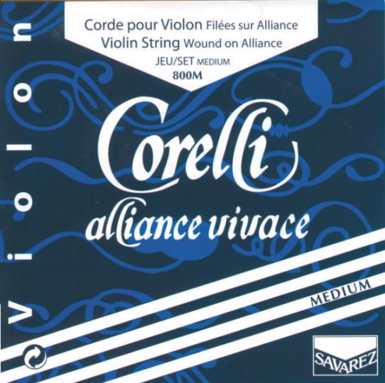 CORELLI Alliance - Set vioolsnaren - E kogel - medium - 4/4