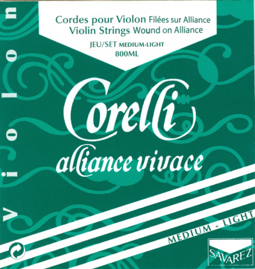 CORELLI Alliance - vioolsnaren - D snaar - med.light - 4/4