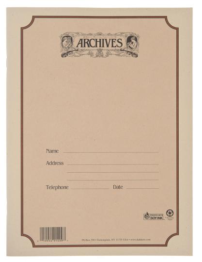 Muziekpapierboek - 10 notenbalken - 48 pag. - gebonden rug