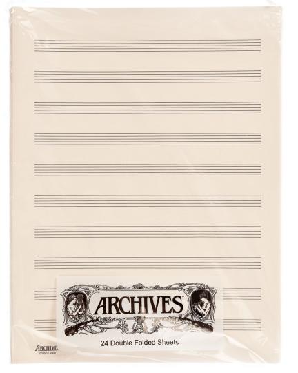 Dubbel muziekpapier - 10 notenbalken - 24 pag.