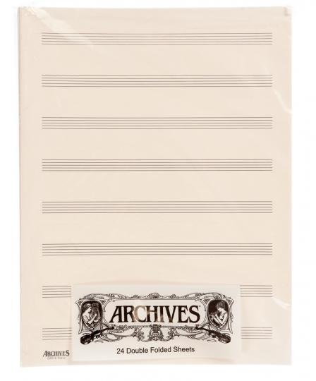 Dubbel muziekpapier - 8 notenbalken - 24 pag.