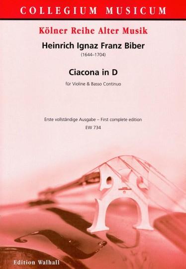 Biber, Heinrich I. F. (1644-1704): Ciacona in D