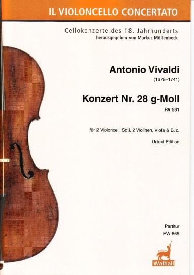 Vivaldi, Antonio (1678–1741): Konzert Nr. 28 g-Moll RV 531 – Partitur