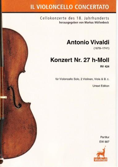 Vivaldi, Antonio (1678–1741): Konzert Nr. 27 h-Moll RV 424 - Partitur