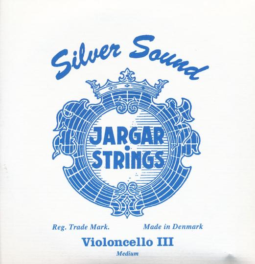 JARGAR Set Silversound voor violoncello, zilver medium