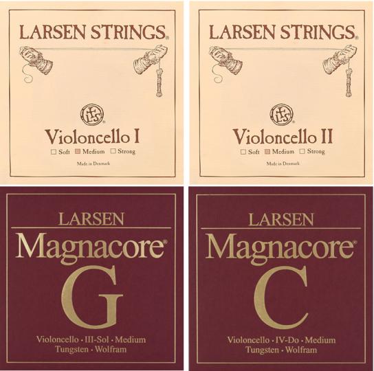 Larsen / Magnacore Set Cellosnaren, strong