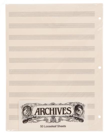 Los muziekpapier - 10 notenbalken - 50 pag.