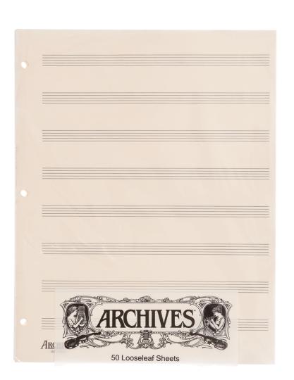 Los muziekpapier - 8 notenbalken - 50 pag.
