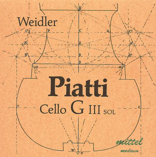 PIATTI C-snaar voor violoncello, zacht