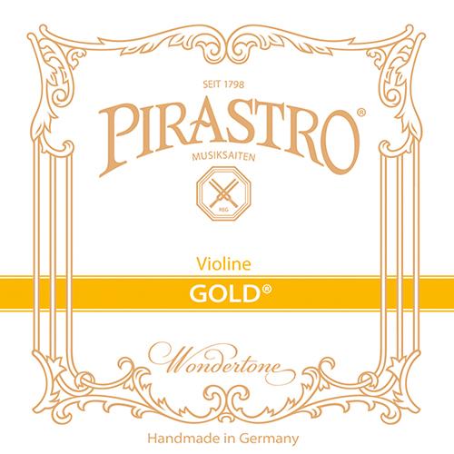 PIRASTRO  Gold Set vioolsnaren met E- kogeltje