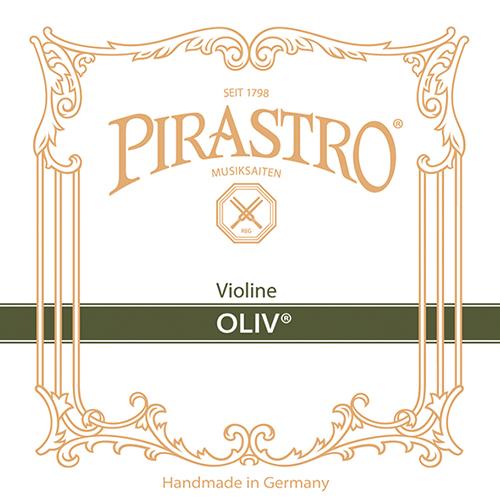 PIRASTRO  Oliv  Set darmsnaren voor viool met E- kogeltje, medium