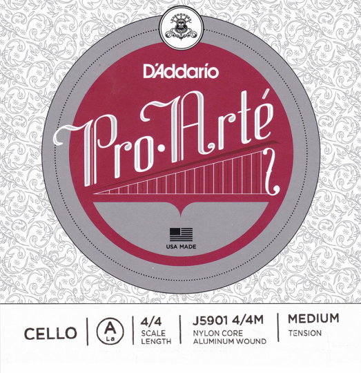 D´ADDARIO  Pro Arté Cello D-snaar, medium