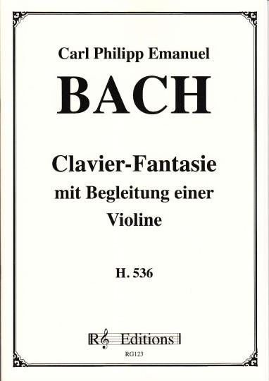 Bach, Carl Philipp Emanuel (1714-1788): Clavier-Fantasie metviool begeleiding H. 536