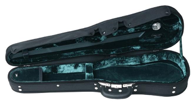 GEWA Maestro, vioolvormkoffer, fluweelpluche groen/zwart
