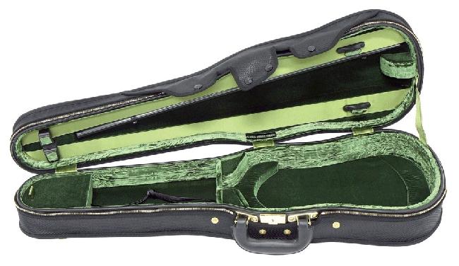 Original Jaeger Prestige-Line vormkoffer, 4/4 - bruin / groen