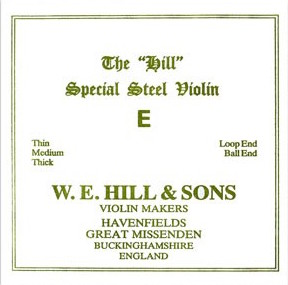 THE Original Hill Violin E-snaar met kogeltje, thick