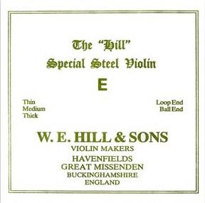 THE Original Hill Violin E-snaar met kogeltje, thin