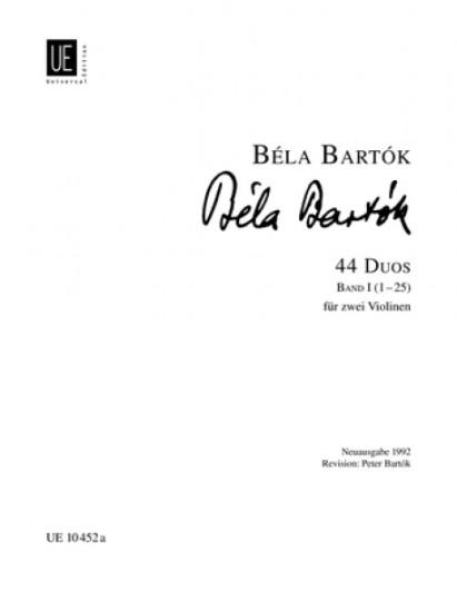 Béla Bartók 44 Duos für 2 Violinen Band 1