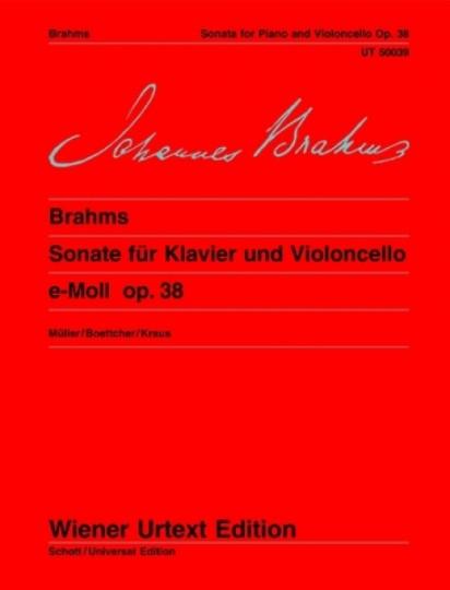 Johannes Brahms, Sonate op. 38