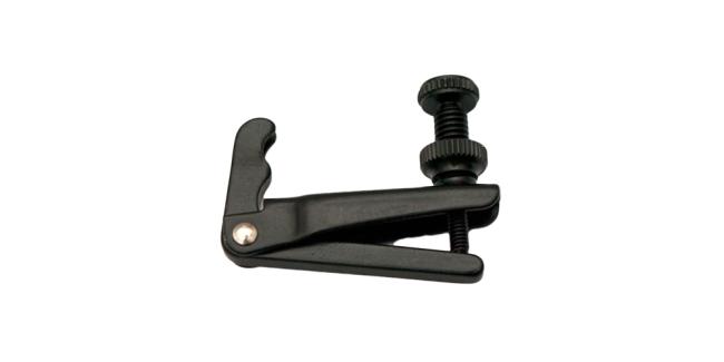 Fix fijnstemmers voor 1/2-1/4 viool, zwart, voor staalsnaren